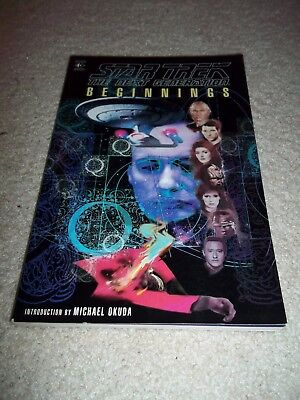 "Star Trek The Next Generation ""Beginnings"" Graphic Novel TPB, 160 Pages, 1995"