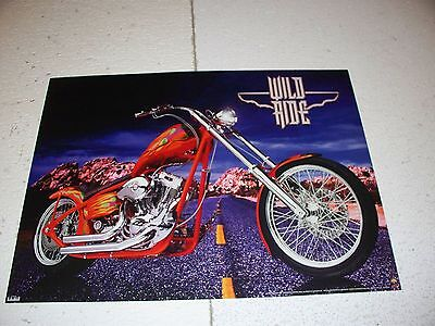 Custom Motorcycle Poster 18 X 24 Glossy Posterboard