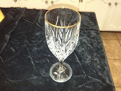Crystal  Gold Trimmed Water/ Wine  Goblets