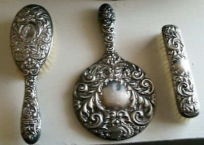 1959 BROADWAY & Co GREEN MAN STERLING SILVER VANITY SET
