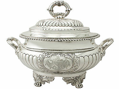 Antique George IV Sterling Silver Soup Tureen 3048g Height 29cm