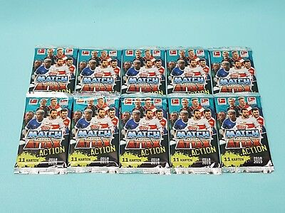 Topps Match Attax 2018/2019  Action 10 Booster / 110 Trading Cards  18/19