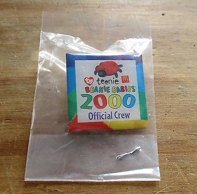RARE 2000 McDONALDS - TEENIE BEANIE BABIES CREW BADGE / MINT IN BAG.