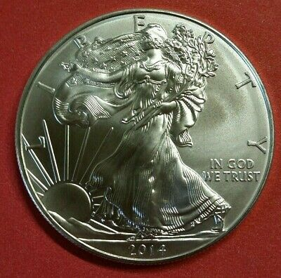 2014 $1 .999 Pure Silver American Eagle 1 Oz BU Collectible Coin From Mint Tube^