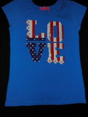 fd0f9ae2e8ee7 NEW Havengirl tee top shirt girls size 10 12 red white blue NWOT