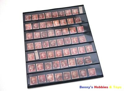 10 Sheets of Stamp Album Stock Pages (1-7 Strips) Display - Black & Double Sided
