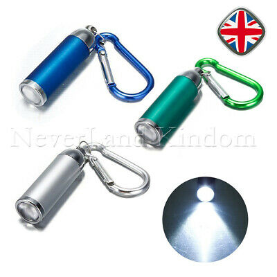 1 / 3x Mini LED Torch Bright White Keyring Camping Walking Flashligh Micro Torch