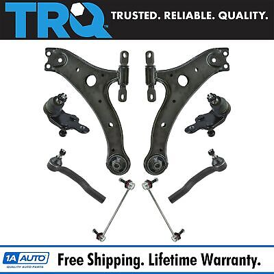 Auto Parts & Accessories 8 Piece Suspension Kit Lower Control Arms w/ Ball Joints Sway Bar Links Tie Rods Car & Truck Parts
