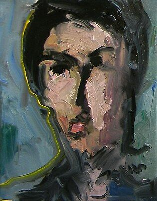 JOSE TRUJILLO Original Oil  Painting Impressionism MODERN ABSTRACT PORTRAIT FACE