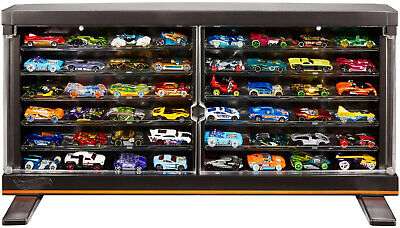 Hot Wheels Premium Collector Display Case for 50 Vehicles, HW 50th Anniversary