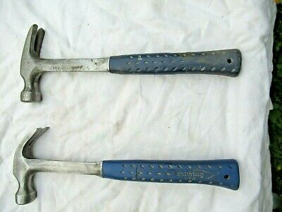 Used Estwing Curved Claw And Framing Hammers. Made In The Usa