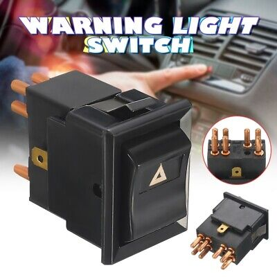2X(7 Pin Black Hazard Warning Lamp Switch per Land Rover Defender 90 110 13 A9Z6