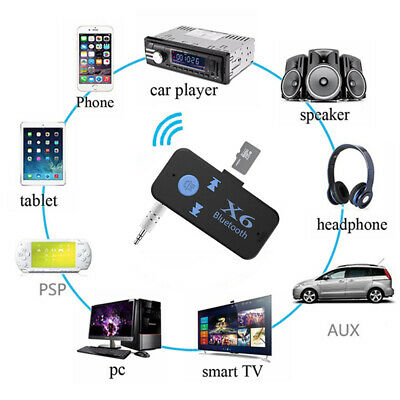 3.5mm Wireless Bluetooth Adapter Handsfree Music Audio Receiver A2DP AUX Car Kit
