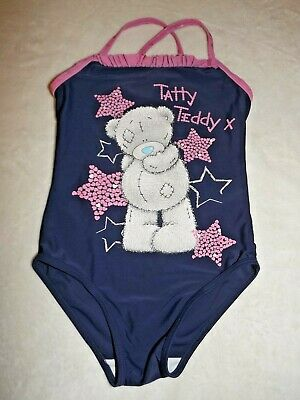 Me To You ~ Girls Navy Blue & Pink Tatty Teddy Swimsuit ~ Age 4 - 5 Yrs
