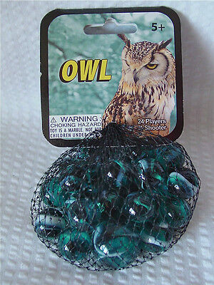 OWL- Net Bag Of 24 Player Mega Marbles & 1 Shooter-Instructions & Facts
