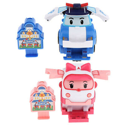 Super Wings Animation Character Transforming Robot Airplane Vehicles Toys