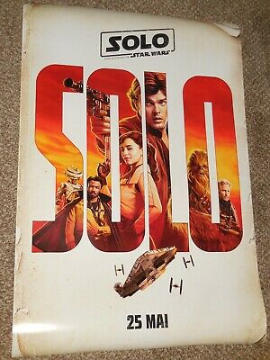 "Solo a Star Wars Story ""FRENCH VER B"" vg 27x40 Original D/S Movie Poster"
