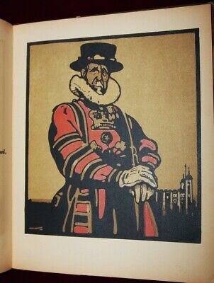 Exrare 1898 Lithographs William Nicholson London Types Police Beefeater Hawker++