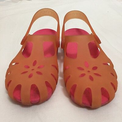 b343e3311408 CROCS JUNIOR SIZE 3 Orange Slip On Clogs Kids J3 Rubber Shoe Sandals ...