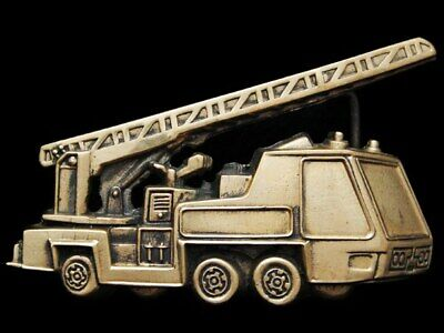 II11116 VINTAGE 1970s CUT-OUT ***SERVICE TRUCK*** SOLID BRASS BELT BUCKLE
