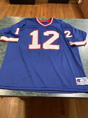 60f23773 VINTAGE JIM KELLY Buffalo Bills Champion Size 40 Jersey Hall Of Fame ...