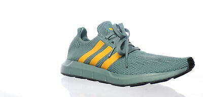 8f9a62fe8 Adidas Mens Swift Run Raw Green Real Gold Black Running Shoes Size 9 (