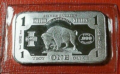 American Buffalo Bullion Bar 1 Troy oz..999 Fine Silver  New Sealed