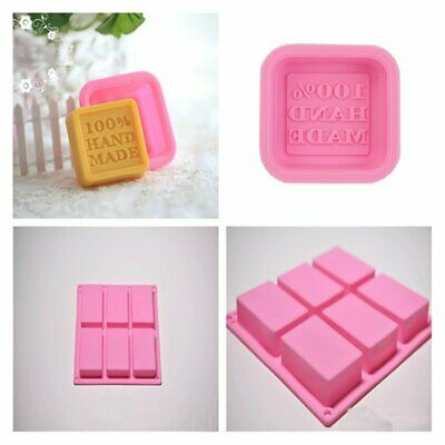 Silicone Ice Cube Candy Chocolate Cake Cookie Cupcake Soap Molds Mould KS