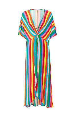 9a995d242b6 Show Me Your Mumu Red Women s Size Small S Striped Maxi Dress  150-  759