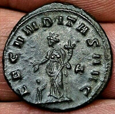 EMPRESS SALONINA, FERTILITY GODDESS, 260-268 A.D, 20.5mm 4gm, Ancient Roman Coin