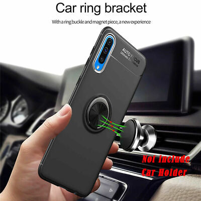 For Samsung Galaxy A50 A40 A10 A70 Ring Car Holder Stand Shockproof Case Cover