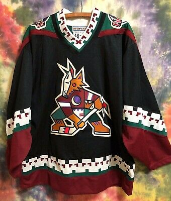 cheap for discount 123cc 57945 PHOENIX COYOTES NHL Hockey Jersey 90s Starter XL 48-R VTG Center Ice  Collection