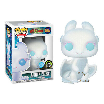 How To Train Your Dragon 3: The Hidden World - Light Fury Glitter Pop! Vinyl