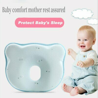 Infant Baby Cot Soft Pillow Prevent Flat Head Memory Foam Cushion Newborn Sleep