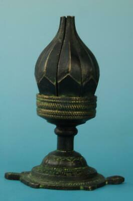 Antique china hand made bronze lotus statue candelabrum old collect