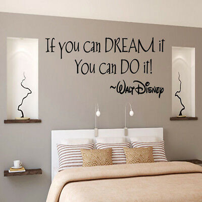 Inspiring Quotes Wall Sticker Decal Art Mural Wall Stickers Kids Home Room Decor