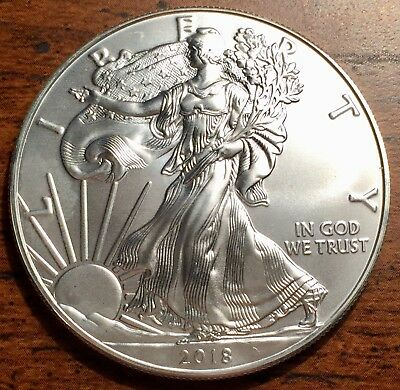 2018 Silver United States $1 American Eagle Coins Brilliant Uncirculated+