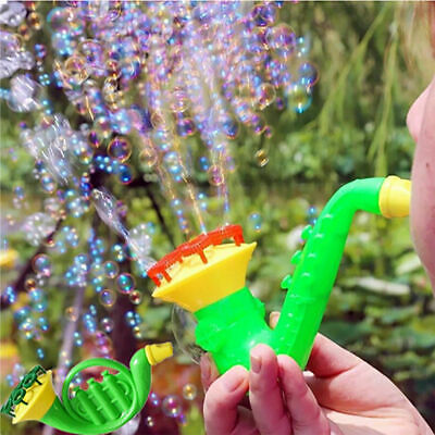 Water Blowing Kids Toys Sax Tuba Horn Bubble Soap Bubble Blower Outdoor