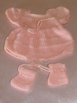 Kleidung Badende Puppe Bella Raynal Corolla Strampler Hausschuhe Wolle Rosa