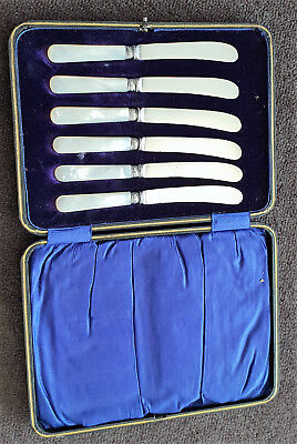 Antique 1915 Sterling Silver Collars Cased Knives Yates Brothers