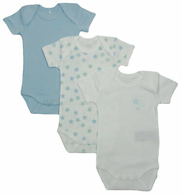 Name It 3er SET BODY Baby Kinder Jungen Bodys Unterwäsche Einteiler kurzarm blau