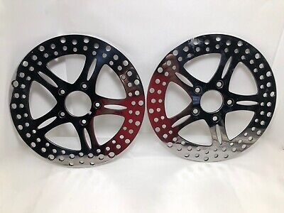HARLEY FRONT & Rear Polished Chrome Brake Rotors Touring