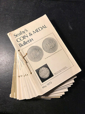 Seaby's Coin and Medal Bulletin 15 x start may 1973 - dec 1976 see description