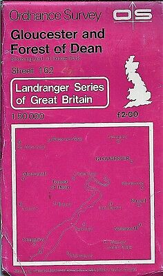Ordnance Survey Landranger Map No 162 GLOUCESTER & FOREST OF DEAN - 1980