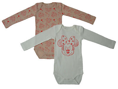 Name It Minnie 2er BODY SET Sanny Kinder Mädchen langarm Bodys Einteiler