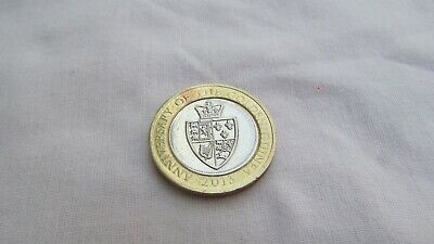 Anniversary of the Golden Guinea 2 pound Coin In Circulated Condition
