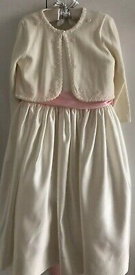 ec566778486 Flower Girl Special Occasion Dress from Us Angels Style 702 Ivory Size 4 w