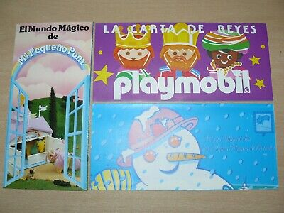 3 Folletos Originales Famosa Playmobil My Little Pony Nancy Carta Reyes 1991