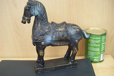 carved wooden horse (indian, persian?)