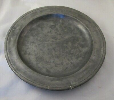 A French 18th / 19th Century Pewter Side Plate / Platter